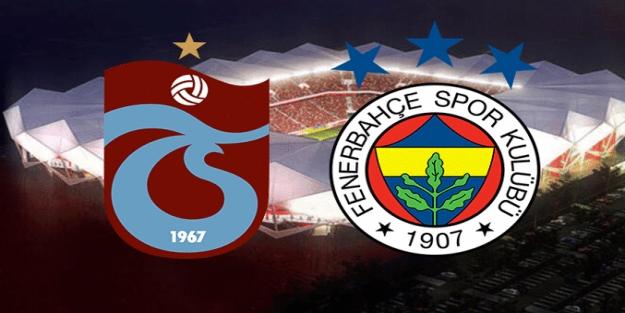 Fenerbahçe- Trabzonspor maçı ilk 11'ler