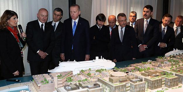 Cumhurbaşkanı Erdoğan'dan Galataport'a ziyaret