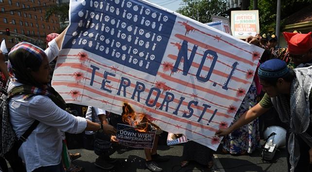 Filipinler'de İsrail ve Amerika protestosu