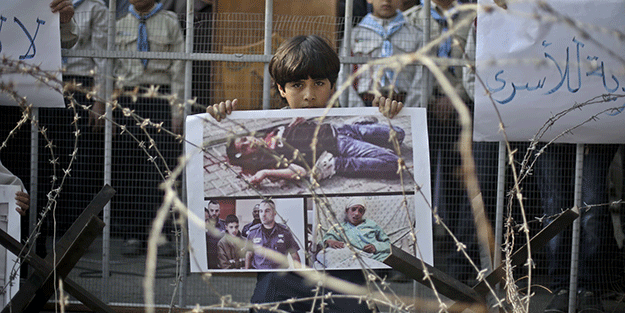 Filistinli çocuklar canilerle tutuluyor