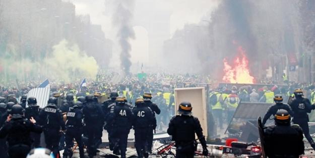 Fransa kaosa sürükleniyor! Hayat durdu