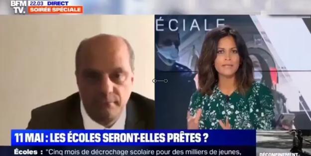 Fransa Milli Eğitim Bakanı tuvaletten canlı yayına bağlanınca rezil oldu