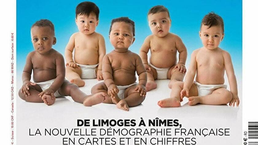 Fransa'da aşırı sağcı dergi bebekleri kullanarak 'ırkçılık' yaptı