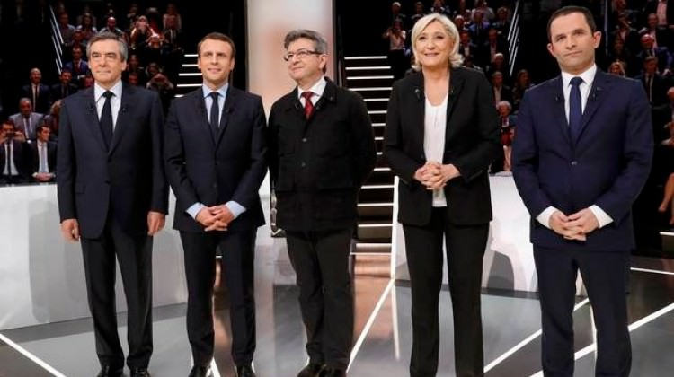 Fransa'da Cumhurbaşkanı adayları canlı yayında tartıştı