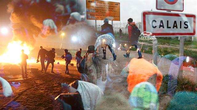Fransa'da sığınmacılar polis şiddetine maruz kalıyor