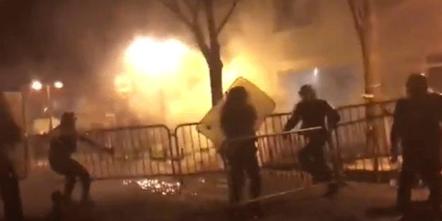 Fransa'da sokaklar savaş alanı gibi… 'Katil polis' sloganı atıp yakıp yıktılar!