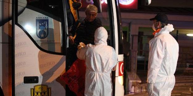 Fransa'dan gelen 144 kişi, Kırıkakle'de gözlem altına alındı