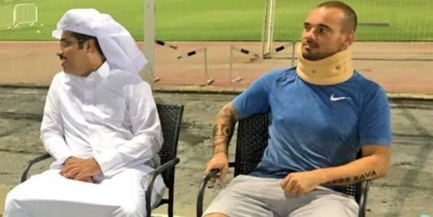G. Saray'ın eski yıldızı Wesley Sneijder trafik kazası geçirdi!