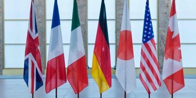 G7 ülkelerinden Rusya'ya karşı ortak bildiri!