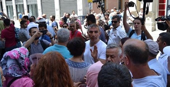 Galatasaray Meydanı'nda gergin dakikalar