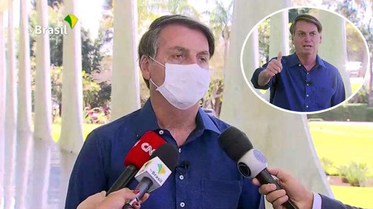 Gazeteciler, basın toplantısında maskesini çıkaran Bolsonaro'ya dava açıyor