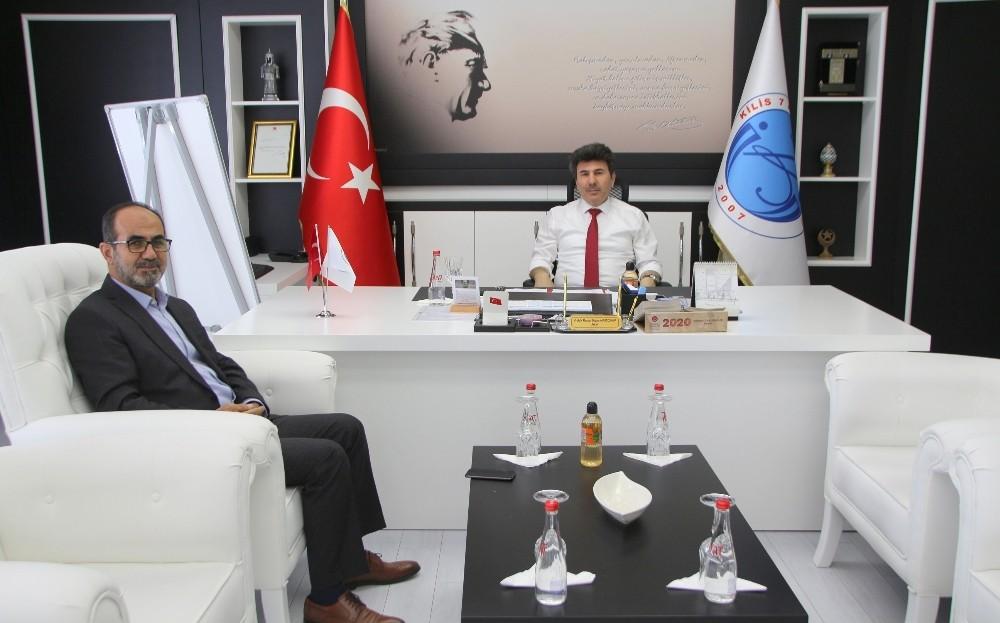 Gaziantep Müftüsü Çelik Rektör Karacoşkun'la bir araya geldi