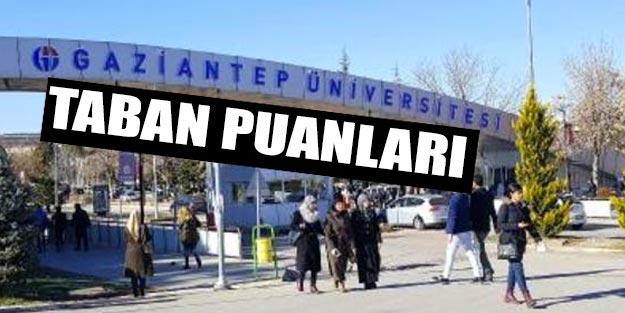 Gaziantep Üniversitesi taban puanları 2019