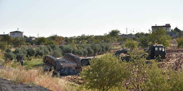 Gaziantep'te askeri araç devrildi! Yaralılar var