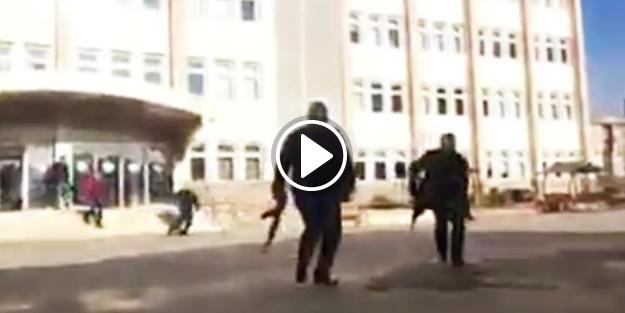 Gaziantep'te çatışma anları kamerada!
