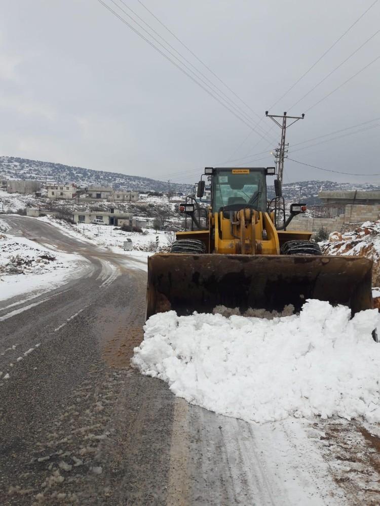 Gaziantep'te hummalı bir karla mücadele çalışmaları