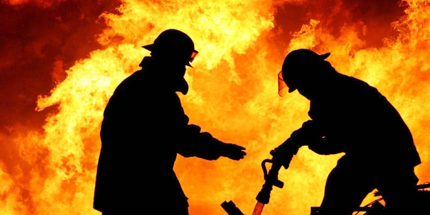 Gaziantep'te iplik fabrikasında yangın