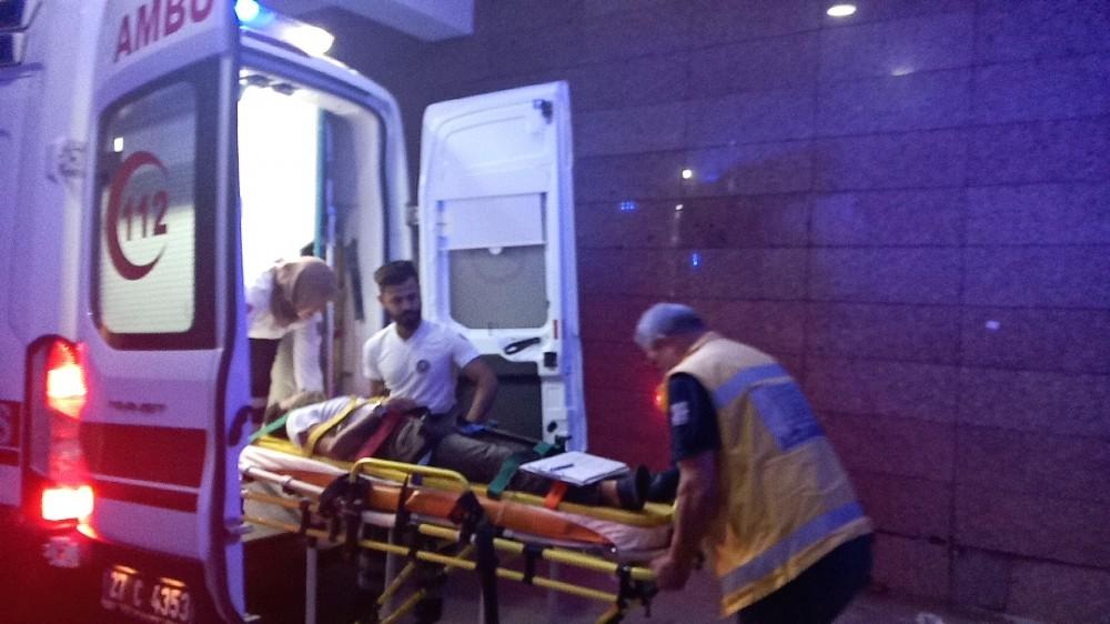 Gaziantep'te otomobil üzüm bağına girdi: 1 yaralı