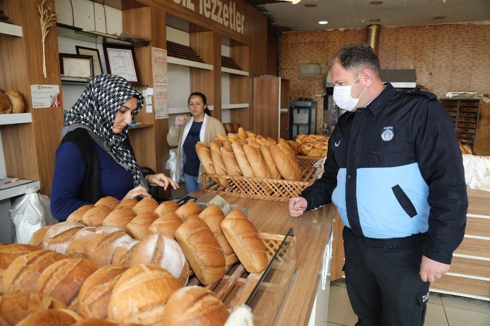 Gaziemir'de ekmek fırınlarına korona virüs denetimi