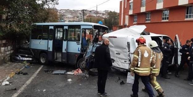 Gaziosmanpaşa'da feci kaza: Yaralılar var