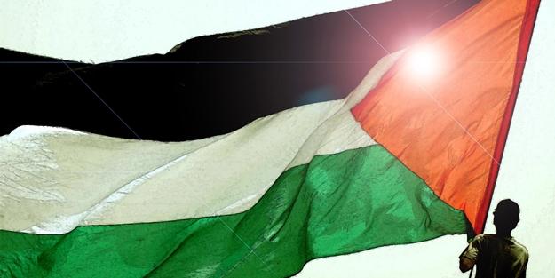 Gazze'de Filistinli tutuklular için dayanışma çadırı