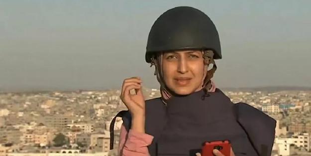 Gazze'de gazetecilerin ölümden döndüğü an!