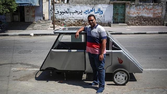 Gazzeli gençler güneş enerjisi ile çalışan araç üretti