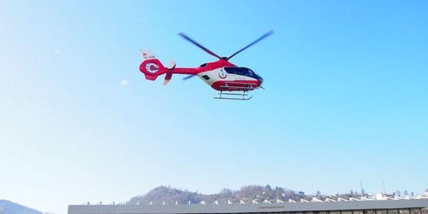 Gece görüşlü ambulans helikopterler uçuşa hazır