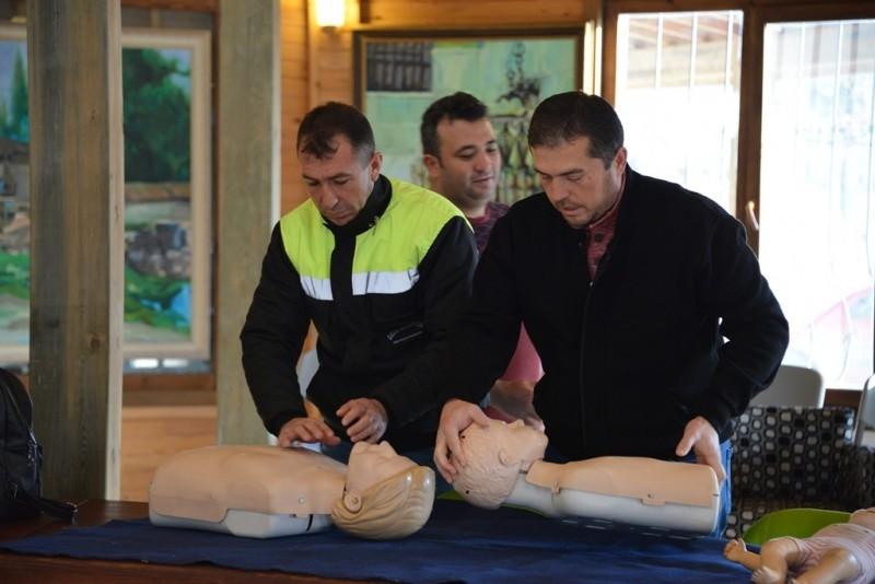 Gediz Belediyesi personeline ilk yardım eğitimi
