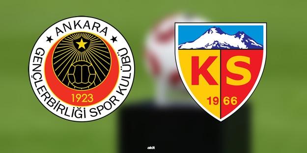 Gençlerbirliği Kayserispor maçı ne zaman saat kaçta hangi kanalda?