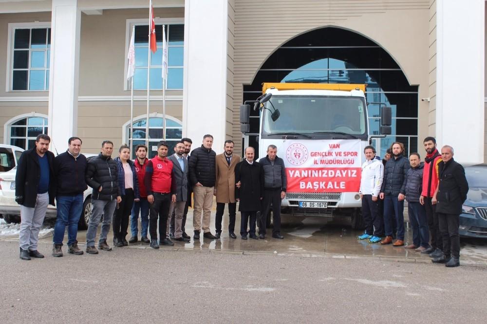Gençlik ve Spor İl Müdürlüğünden depremzedelere yardım eli