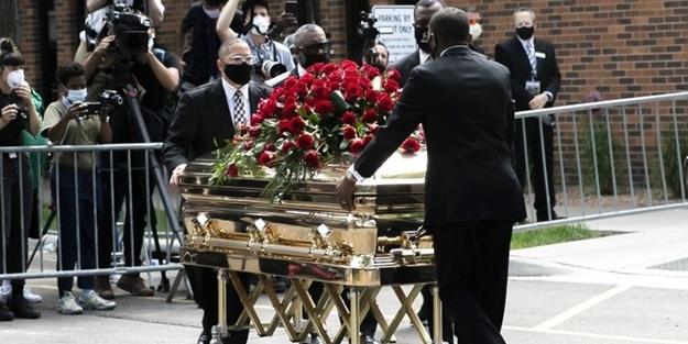 George Floyd'un cenazesinde dikkat çeken detay
