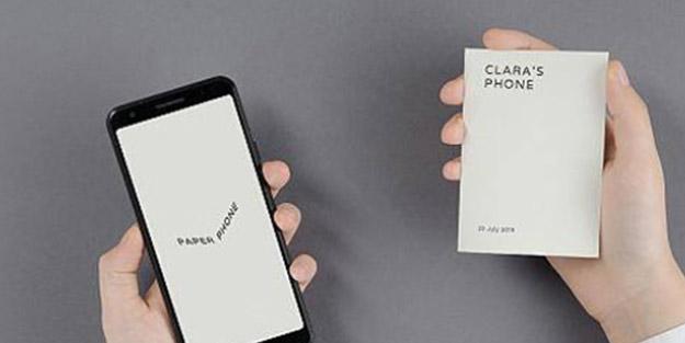 Google'dan telefon bağımlılığına karşı, 'kağıt telefon' uygulaması!