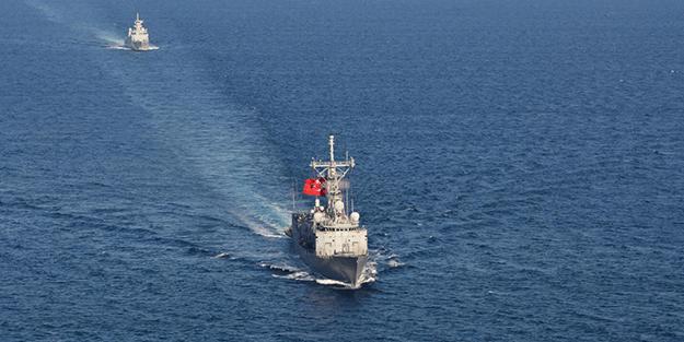 Görüntüler biraz önce geldi! Türkiye ve Pakistan gemisi Doğu Akdeniz'de