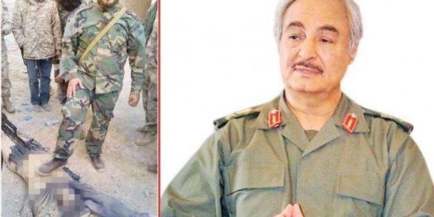 Görüntüleri ortaya çıktı! Darbeci Hafter'den katliam