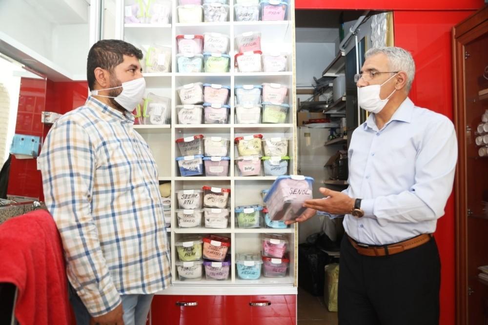 Güder'den esnaflara destek ziyareti
