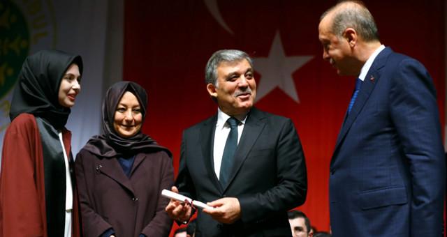 Gül'ün gelinine diplomasını bizzat verdi