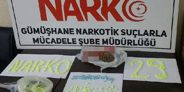 Gümüşhane'de uyuşturucu operasyonu: 2 gözaltı
