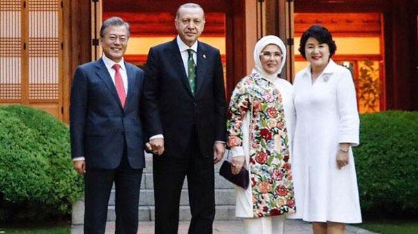 Güney Kore Devlet Başkanı'ndan Türkçe Erdoğan mesajı!