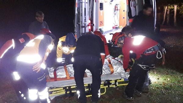 Gürle Dağı'ndan atladı ağaca takıldı, 11 saat sonra kurtarıldı