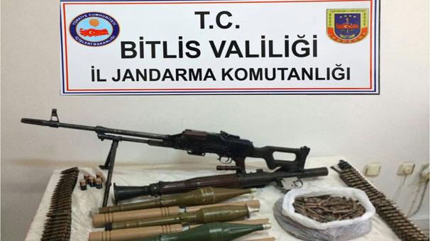 Güroymak'ta terör örgütü PKK'ya ait mühimmat ele geçirildi
