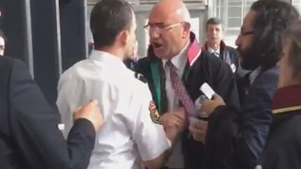 Güvenlik görevlisi CHP'li Tanal'a müdahale etti ortalık karıştı