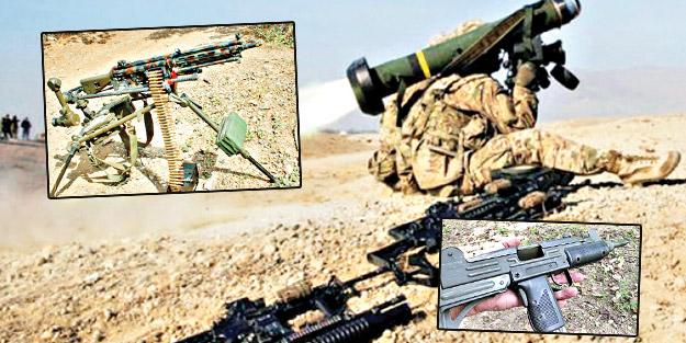 Haçlı'nın silahları YPG'nin inlerinde