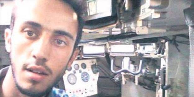 Hainlerin bıraktığı tankı Suriyeli genç yerine teslim etmişti
