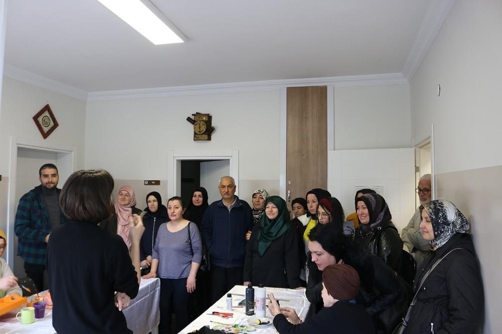 Halk Eğitim kursiyerlerinden YADEM'e ziyaret