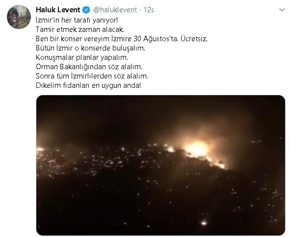 Haluk Levent'in 'ağaç kampanyasına' Soyer'den destek