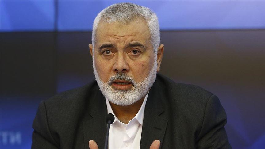 Hamas Siyasi Büro Başkanı Heniyye: Filistinlilerin ABD'nin sözde Orta Doğu barış planına karşı birleşmesi gerekiyor