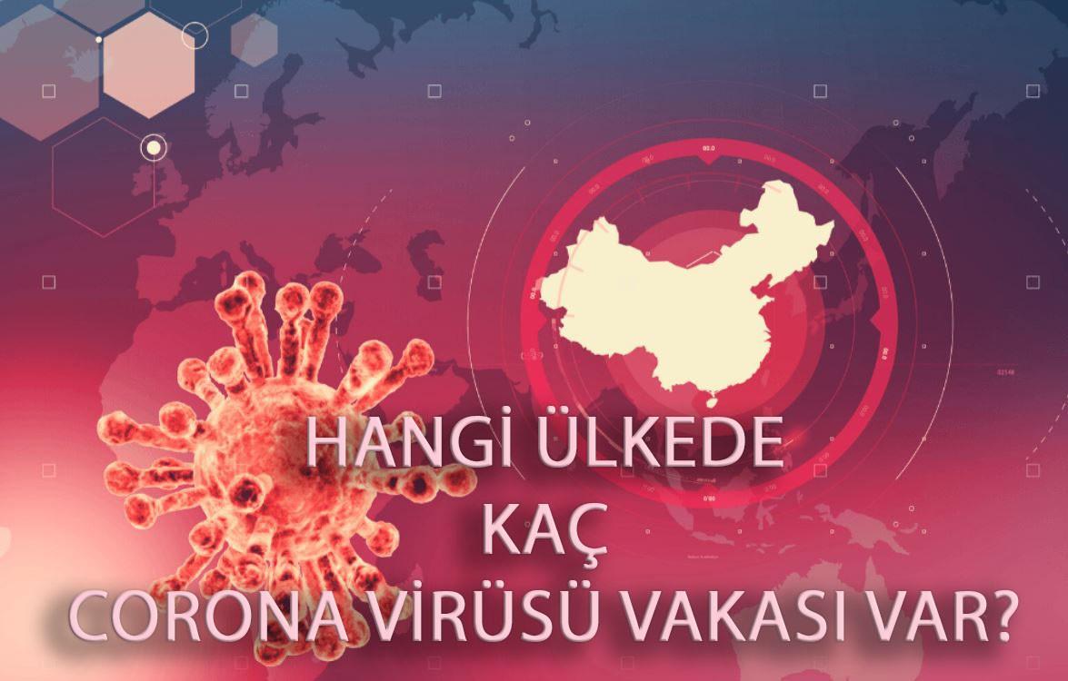 Hangi ülkede kaç korona virüsü vakası var?