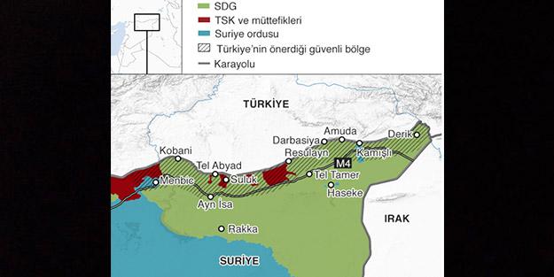 Harekat tüm planlarını bozdu! İşte Suriye'de son harita
