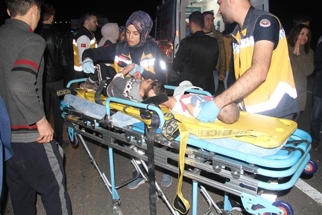 Hatay'da feci kaza: 8 yaralı